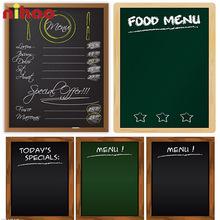 Bảng đen viết menu khung gỗ kt 600x800mm