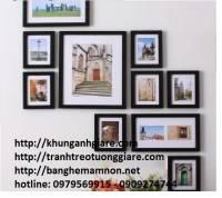 khung tranh gỗ đẹp-bán khung ảnh gỗ-tranh theu chu thap tphcm chu van an