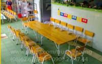 Bàn học trẻ em vân gỗ-bàn học trẻ em gỗ tự nhiên-bàn học cho bé tiểu học