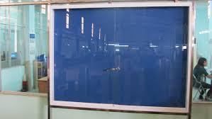 Bảng ghim khung nhôm kính ,kích thước 1200x3500mm