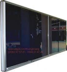 Bảng ghim khung nhôm kính ,kích thước 1200x1200mm