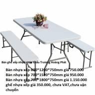 Bàn ghế nhựa xếp nhập khẩu 700*1520*740mm
