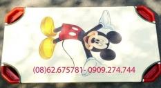 Giường ngủ mẫu giáo in hình chuột Mickey