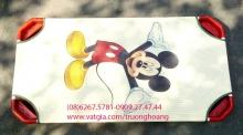 Giường ngủ mầm non thấp sàn in hình Mickey
