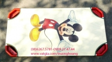 Giường lưới mầm non cao cấp in hình Mickey