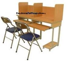 Bàn ghế máy vi tính khung sắt gỗ ép công nghiệp 03