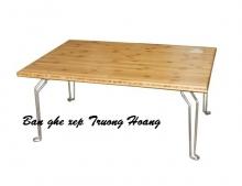 Bàn ghế ngồi học gấp xếp nhò dành cho sinh viên gỗ ghép cao su giá rẻ tại tphcm