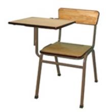 Bàn ghế gấp sinh viên,ghế cá nhân có bàn viết 03