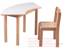 bàn ghế gỗ mầm non 8