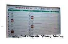 Bảng lịch công tác kích thước 1200 x 2600 mm