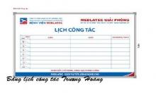 Bảng lịch công tác tháng kích thước 1200 x 1300 mm