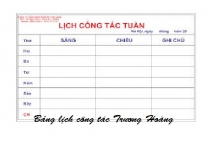Bảng lịch công tác kích thước 1200 x 3500 mm