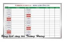 Bảng lịch công tác tuần kích thước 1200 x 3000 mm
