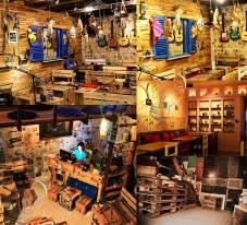 Trang trí decor vintage shop quán