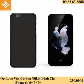 Ốp Lưng Vân Carbon Nilkin Dành Cho iPhone 6 / 6+ 7 / 7+