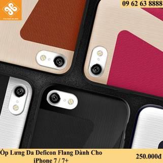 Ốp Lưng Da Hình Số 7 Deficon Flang Dành Cho iPhone 7 / 7+