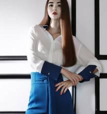 Áo sơ mi nữ Hàn Quốc Dint  B1842