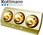 Đèn sưởi nhà tắm Kottmann 3 bóng vàng