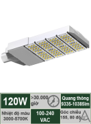 Đèn đường LED 120W-Mẫu F