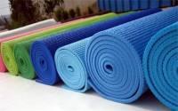 Thảm tập yoga trơn, hoa văn