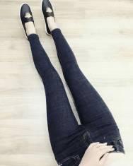 Jean dài nữ cotton co giãn mạnh