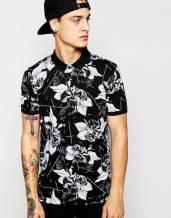 Áo thun ngắn tay in hoa 3D cao cấp