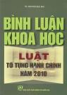 Bình luận khoa học luật tố tụng hành chính năm 2010