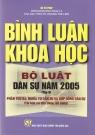 Bình luận khoa học bộ luật dân sự năm 2005 (Tập II)
