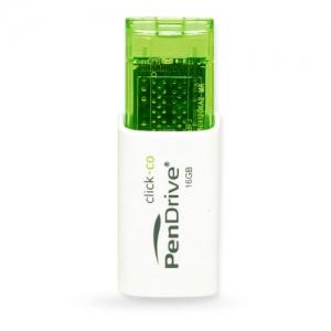 USB Pendrive Click-co 16GB (Trắng phối xanh lá)