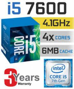 CPU Intel Core i5-7600 3.5 GHz / 6MB / HD 600 Series Graphics / Socket 1151 (Kabylake)
