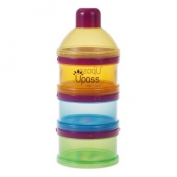 Hộp đựng sữa bột 3 ngăn trong suốt có vách ngăn không BPA