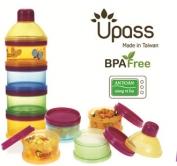 Hộp đựng sữa bột 4 ngăn trong suốt có vách ngăn không BPA