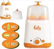 Máy hâm sữa, tiệt trùng siêu tốc đa năng  2 bình cổ rộng Fatzbaby