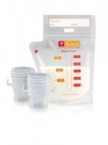 Túi  trữ sữa Ameda (20 túi – 150ml) và 2 ống nối với máy hút sữa (Thụy Sĩ)