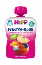 Trái cây nghiền HiPP Fruit Fun vị mâm xôi, táo, đào tây (90g)