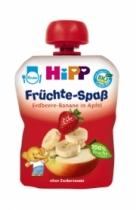 Trái cây nghiền HiPP Fruit Fun vị dâu tây, chuối, táo (90g)