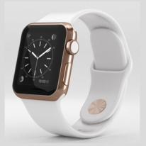 Apple Watch Edition 42mm 18-Karat Rose Gold Case with White Sport Band