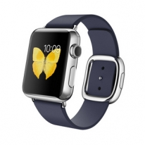 Apple Watch 38mm Stainless Steel Case with Midnight Blue Modern Buckle