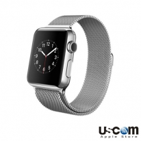 Apple Watch 42mm Stainless Steel Case with Milanese Loop