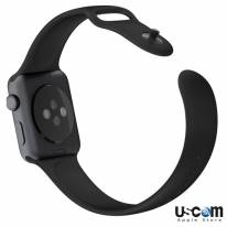 Black Sport Band with Space Gray Stainless Steel Pin 38mm/ 42mm - Hàng FPT