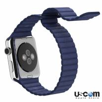 42mm Blue Leather Loop M/L - Hàng FPT (Full VAT)