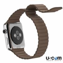 42mm Brown Leather Loop M/L - Hàng FPT (Full VAT)