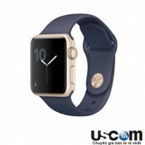 Gold Aluminum Case with Midnight Blue Sport Band