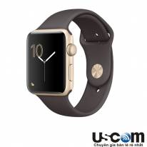 Gold Aluminum Case with Cocoa Sport Band