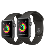 Apple Watch 42mm Space Gray Aluminum Case with Gray Sport Band