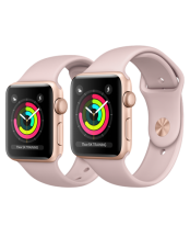 Apple Watch 38mm Gold Aluminum Case with Pink Sand Sport Band