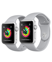 Apple Watch 38mm Silver Aluminum Case with Fog Sport Band