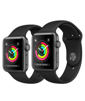 Apple Watch 42mm Black Stainless Steel Case with Black Sport Band