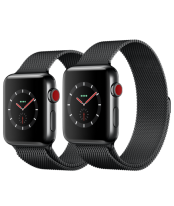 Apple Watch 42mm Space Black Stainless Steel Case with Space Black Milanese Loop