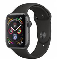 Apple Watch Series 4 44mm Space Gray Aluminum Case with Black Sport